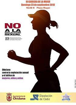cartel carrera mujer