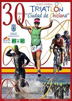 cartel triatlón