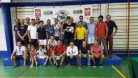 Foto grupo entrega trofeos tenis