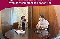 reunión delegado de deportes con Juan Manuel Ortega