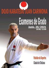 cartel exámenes de grado karate