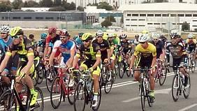 Foto gran premio ciclista