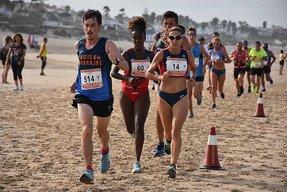 foto carrera playa la barrosa