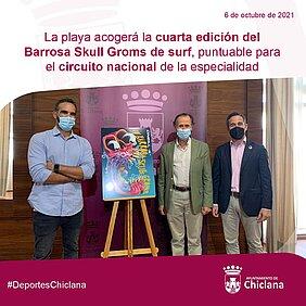 foto presentación evento Barrosa Skull Groms