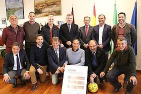 foto presentación torneo fútbol