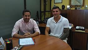 Momento de la reunión José Manuel Vera y Álvaro Terrero.