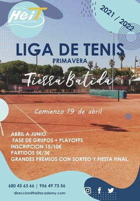 cartel liga de tenis Heit Novo Sancti Petri