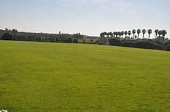 Imagen del campo de fútbol desde una de las esquinas.