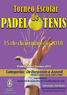 cartel escolar padel y tenis