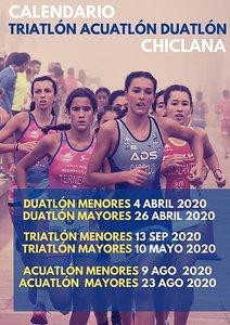 cartel pruebas triatlón