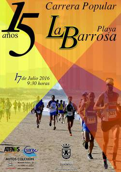 Cartel carrera playa