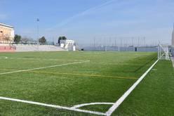 Vista del campo de fútbol.