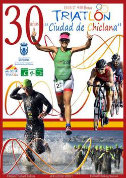 cartel triatlón